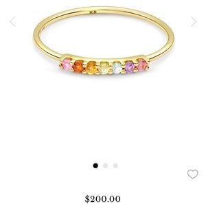 Kendra Scott Cammie ring size 7 14k gold